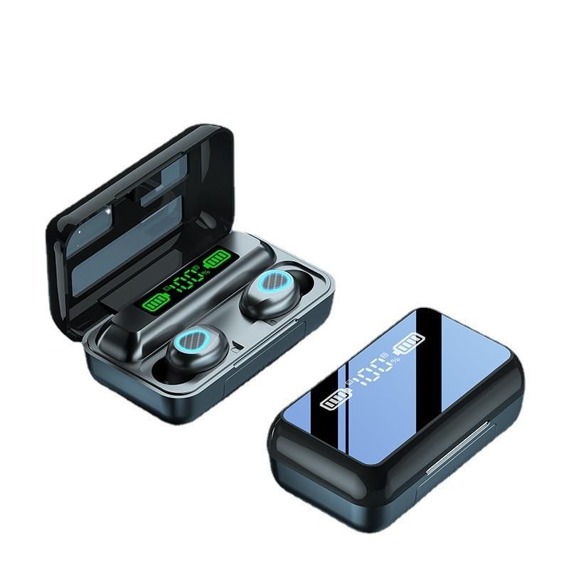 R15 TWS سماعة بلوتوث سماعة رأس لاسلكية ستيريو الرياضة دقيقة سماعة أذن ميكروفون مع صندوق شحن للهواتف الذكية