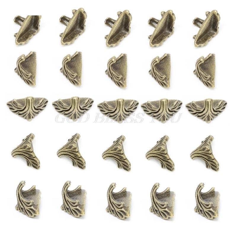 30 Uds caja de regalo de joyería decorativa caja de madera pies pierna protector de esquina 19mm x11mm triangulación de envío