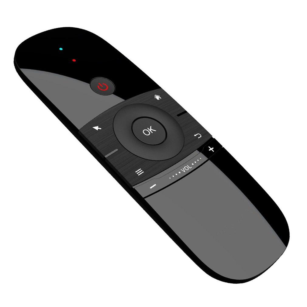 ماوس هوائي صغير W1 لوحة المفاتيح اللاسلكية 2.4G ذكر الاستشعار يطير ماوس هوائي ل 9.0 8.1 تي في بوكس أندرويد/كمبيوتر/تلفزيون محمول صغير