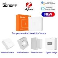 SONOFF     capteur de temperature et dhumidite ZigBee SNZB-02  Notification en temps reel  application e-welink  pour maison intelligente  fonctionne avec SONOFF ZBBridge