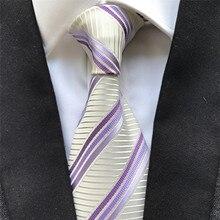 10 cm Width Classic Men's Ties Jacquard Woven Neck Tie Gravatas Striped Neckties