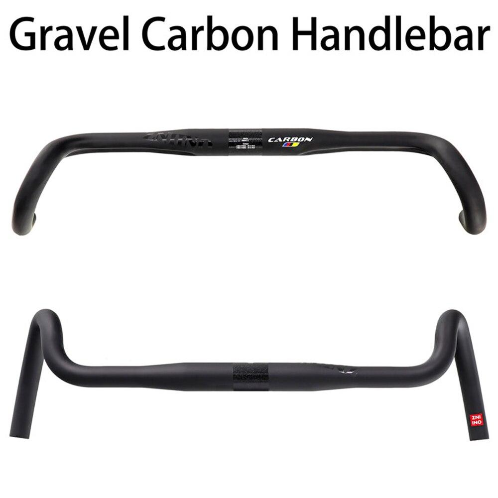 Carbono grava manillar 400/420/440mm gran llamarada Bar de carretera de ciclocross bicicleta manillar de bicicleta de fibra de carbono manillar Accessiores