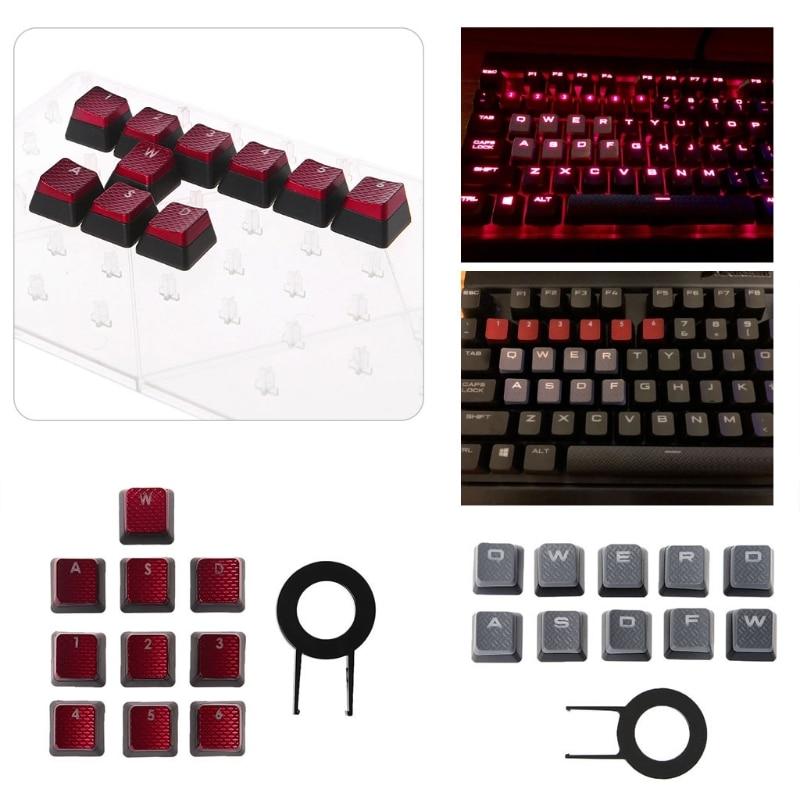 10Pcs/Set Keycaps for Corsair K70 K65 K95 G710 RGB STRAFE Mechanical Keyboard Accessories
