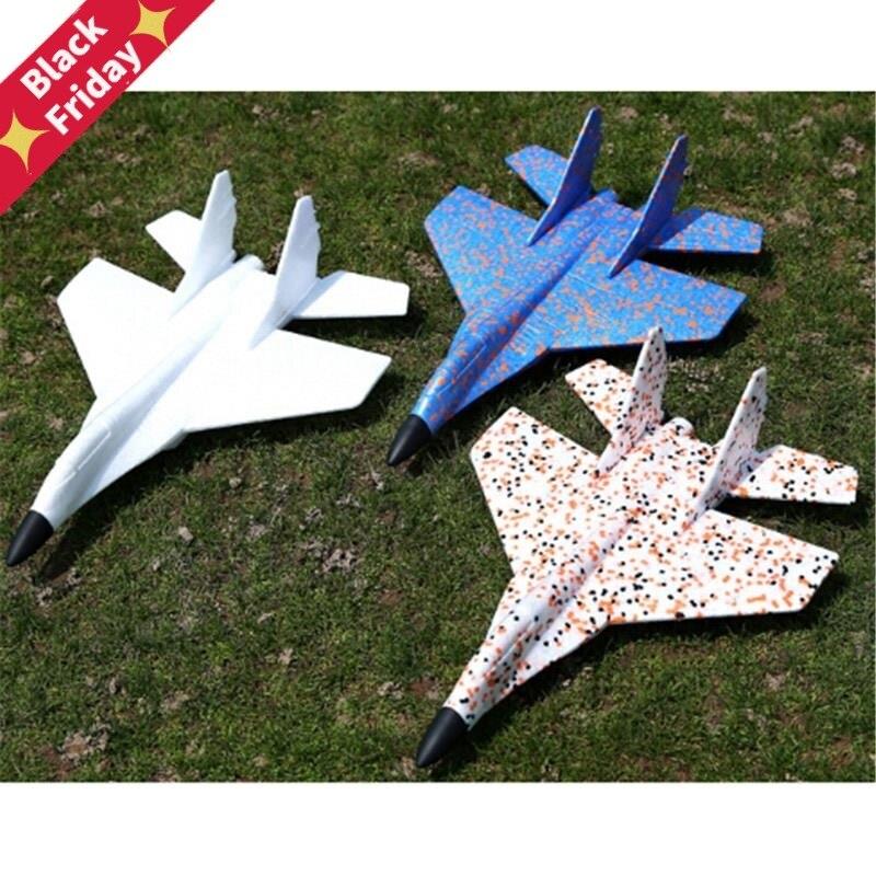 Hand Werfen Fliegen Segelflugzeug Kämpfer Flugzeuge Schaum Flugzeug Modell Party Tasche Füllstoffe Fliegen Segelflugzeug Flugzeug Für Kinder Spiel DIY Kinder spielzeug