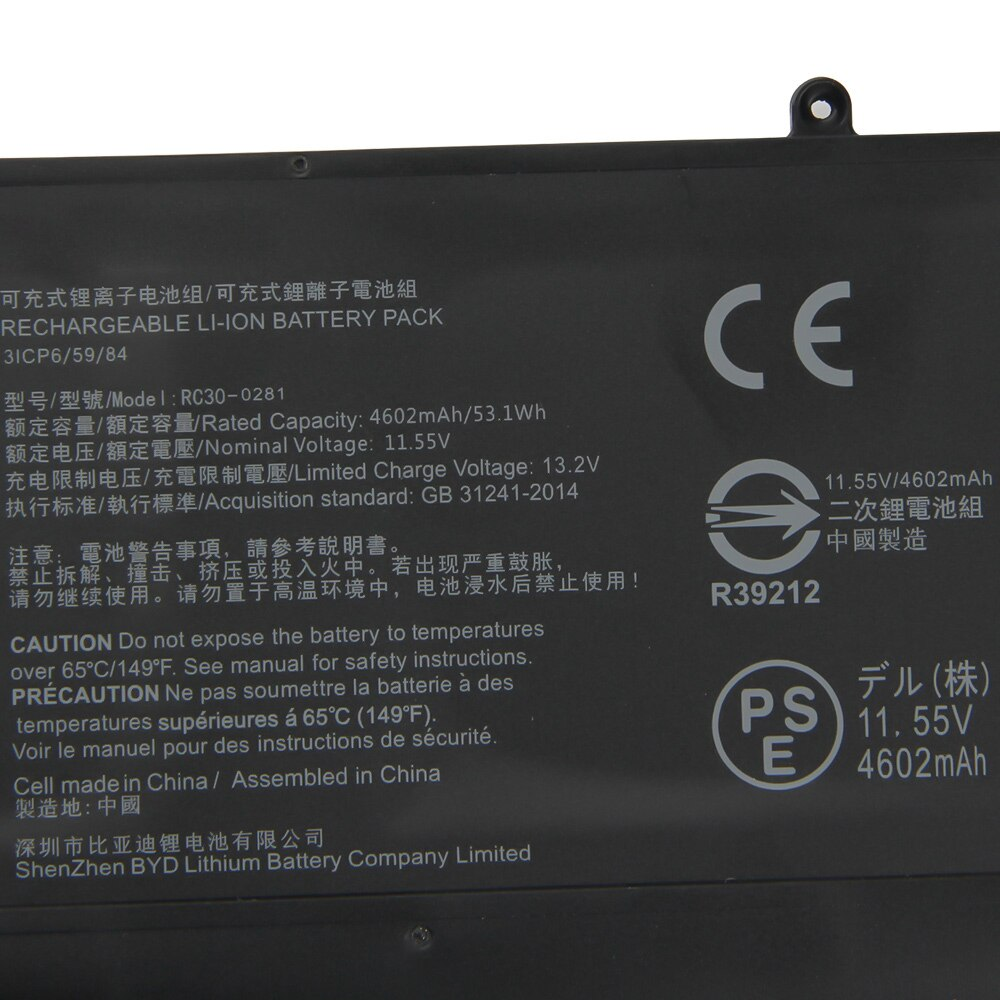 Original Replacement Battery RC30-0281 RZ09-0281 For Razer Blade Stealth 13 2018 2019 Max-Q RZ09-03102E52-R3U1 RZ09-02812E71 enlarge