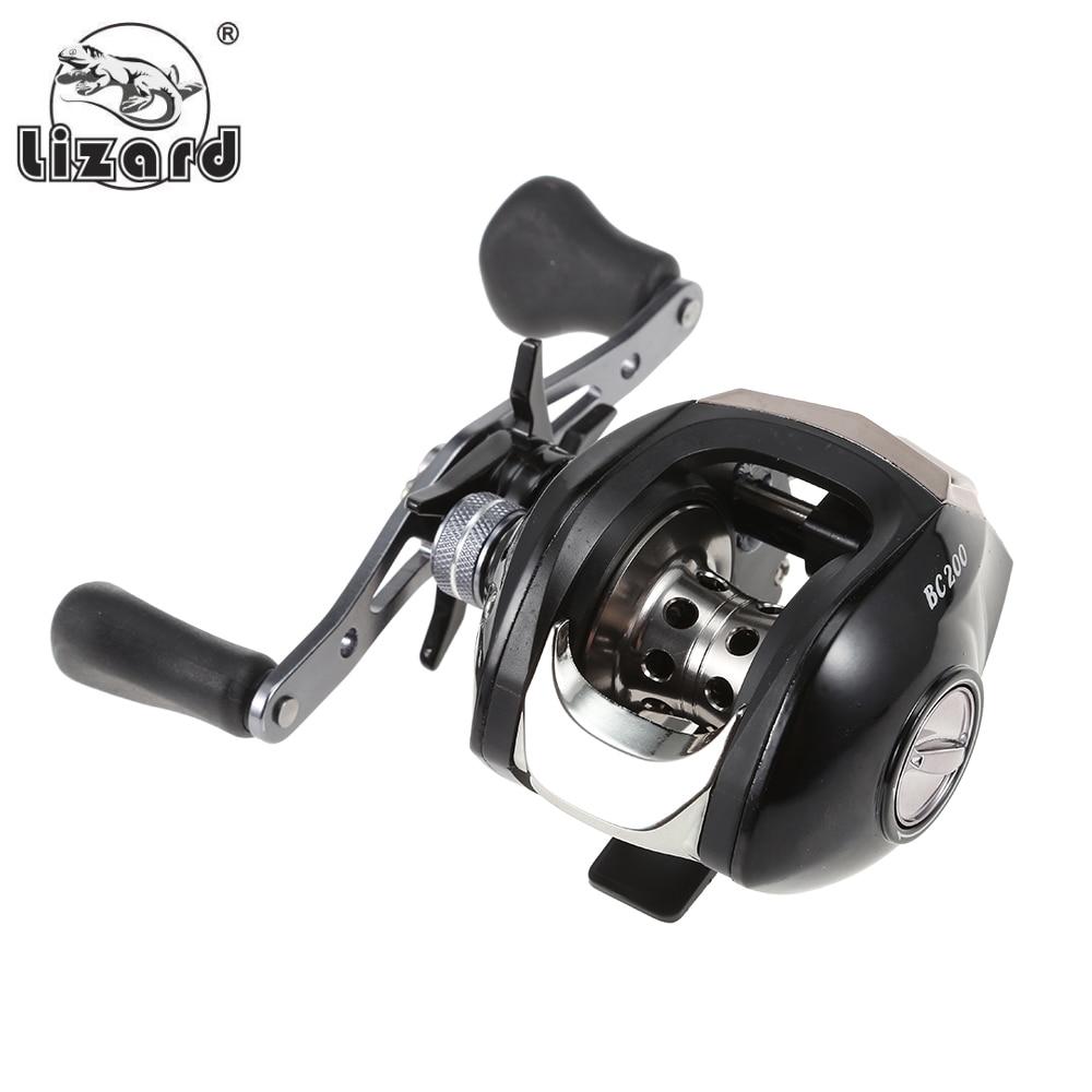 Lizard Fishing Reel 17 + 1 Ball Bearings Fishing Wheel Gear Ratio 7.11 Left / Right Hand Baitcasting Reel Magnetic Brake
