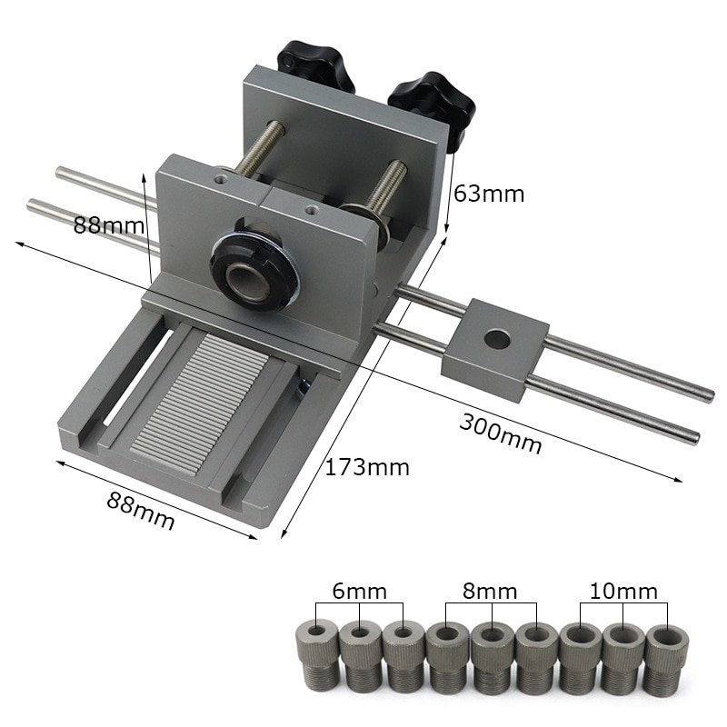 Straight hole puncher three-in-one punching locator jigsaw connection punching locator woodworking hole opener enlarge