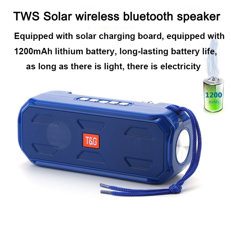 20W Best Selling Solar Charging Wireless Bluetooth Compatible Speaker Stereo Subwoofer Portable Outdoor Music Center caixia dom