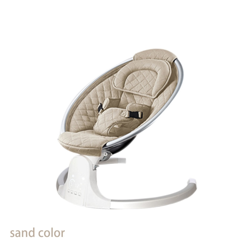 New Baby Electric Rocking Chair Rocking Bed Coax Baby To Sleep Rocking Chair Cradle Sleeping Basket Electric Smart Rocking Bed enlarge