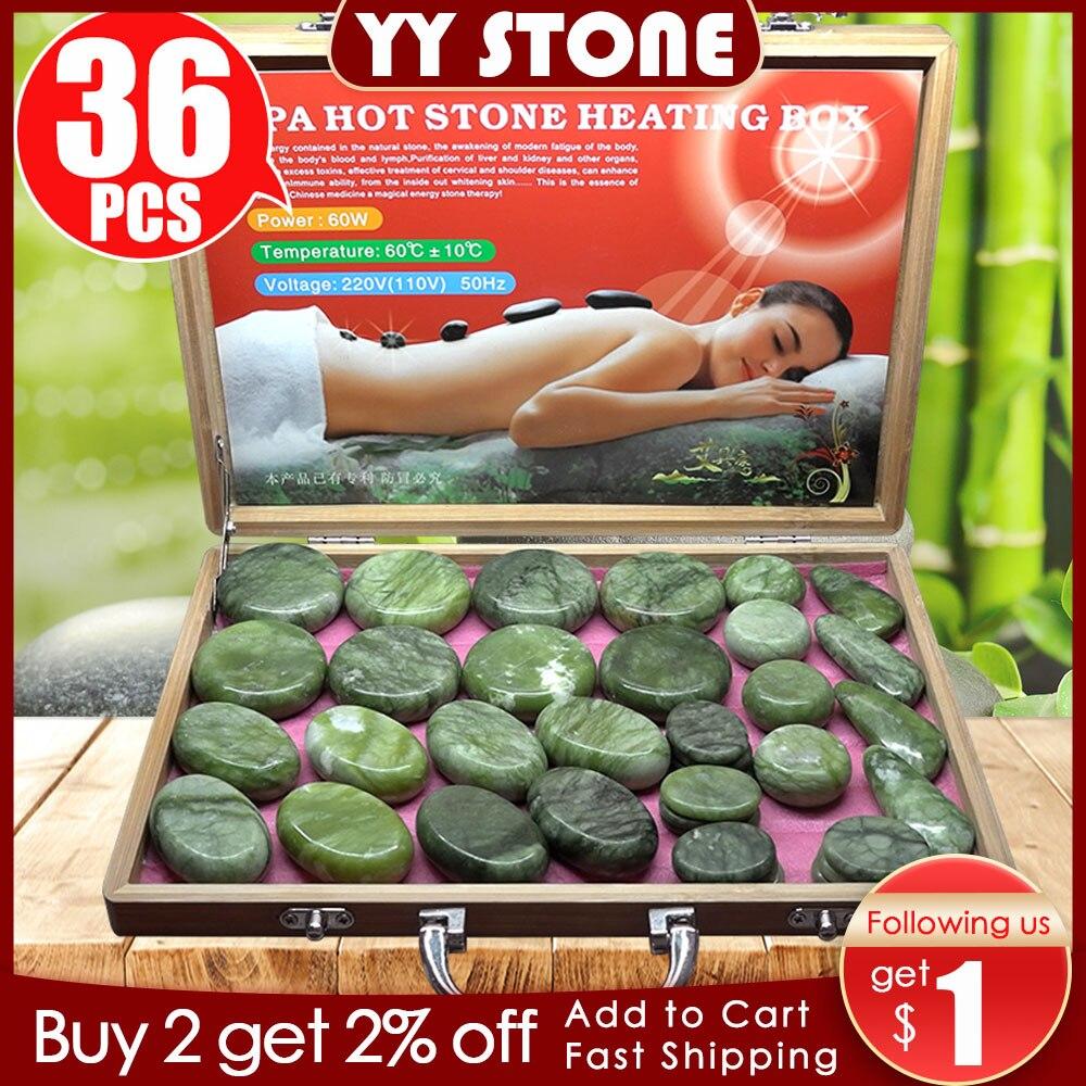Tontin-حجر اليشم الزجاجي الساخن ، مدلك الظهر ، الرعاية الصحية ، تدليك العمود الفقري ، البازلت ، الحمم البركانية ، سبا