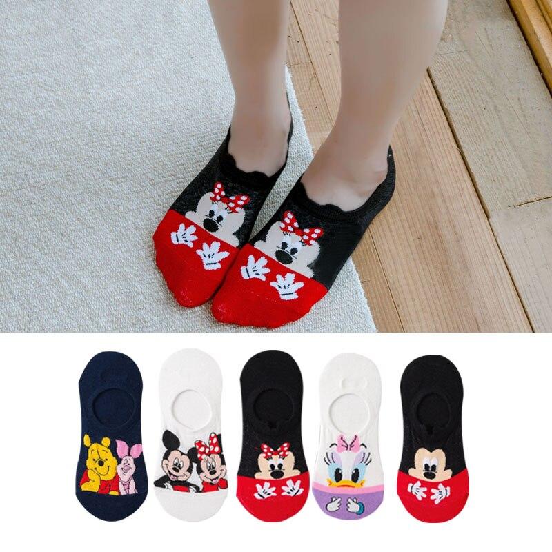 5 Paare/los Sommer Korea frauen socken Cartoon Tier Katze maus Socken Nette Lustige Ankle Socken Baumwolle unsichtbare socken Dropshipping