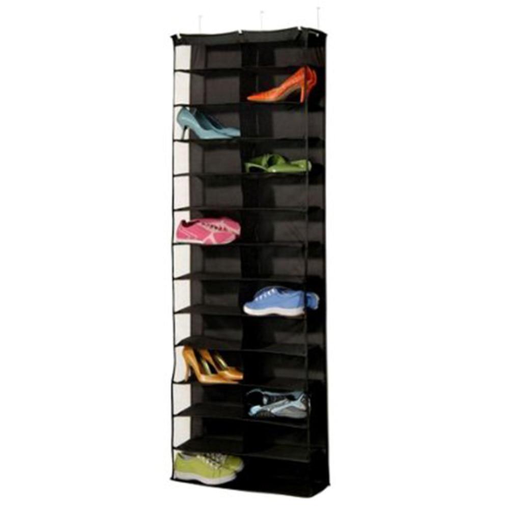 Zapatero antipolvo de PVC con 26 bolsillos, organizador de almacenamiento de zapatos...