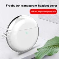 Case For Huawei Freebuds 4 Tpu Protector Cover Full Transparent Protective Case For Huawei Freebuds4 Bluetooth Wireless Earphone