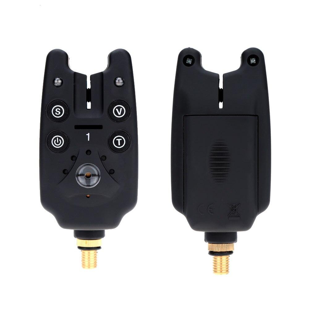 Lixada Wireless LED Fishing Bite Alarms Set Fishing Alarm Kit Indicator Alert Bell Receiver Fishing Tackle with Zippered Box enlarge