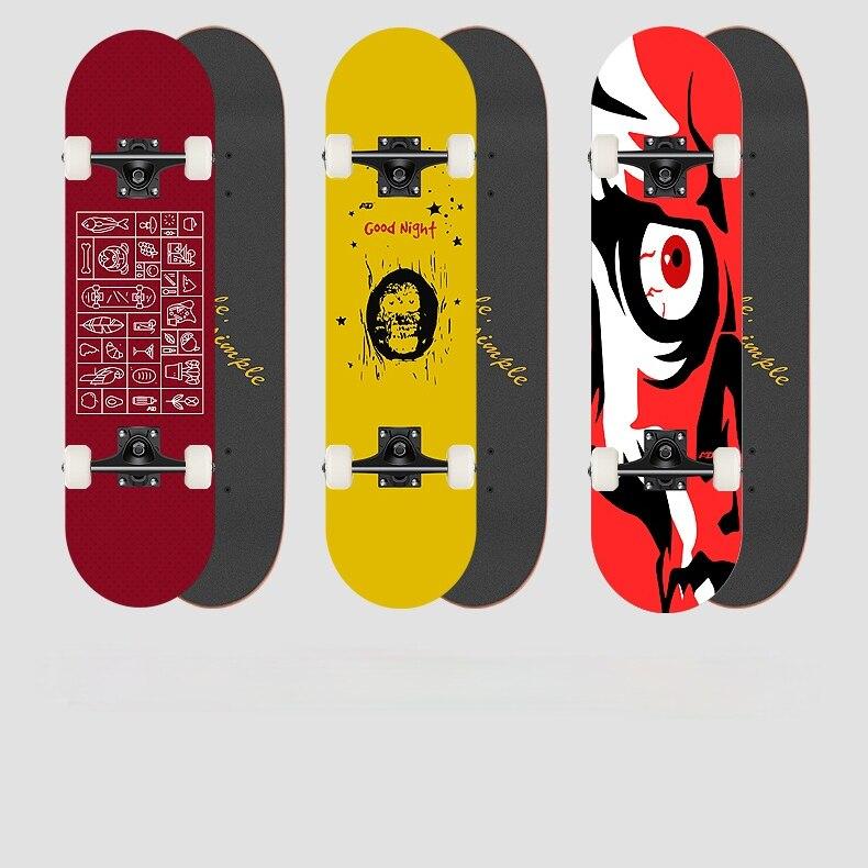 Adolescent Skateboard Anime Board Wooden Wearresistant Skateboard Profesional Mens Planche De Skate Sports Entertainment EI50SA
