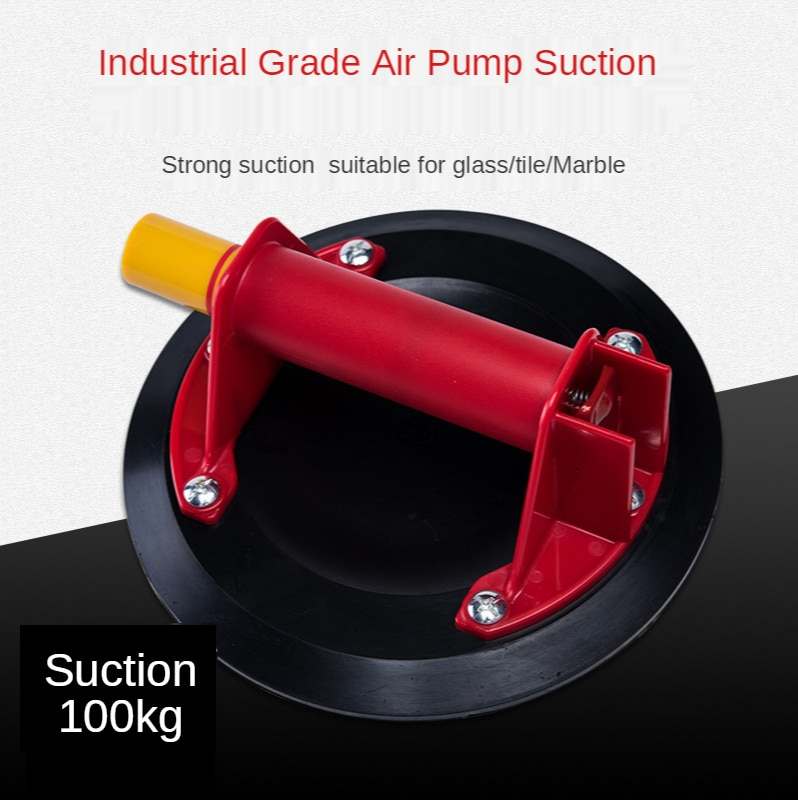 8 inch Vacuum Suction Cup Heavy Duty Hand Pump Vacuum Suction Cup for Glass and Stone Tile Carrying 100 kg