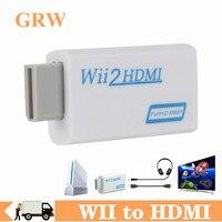 Преобразователь WII в HDMI, Full HD 1080P, преобразователь WII 2 HDMI, 3,5 мм аудио для ПК HDTV монитора, адаптер Wii в HDMI