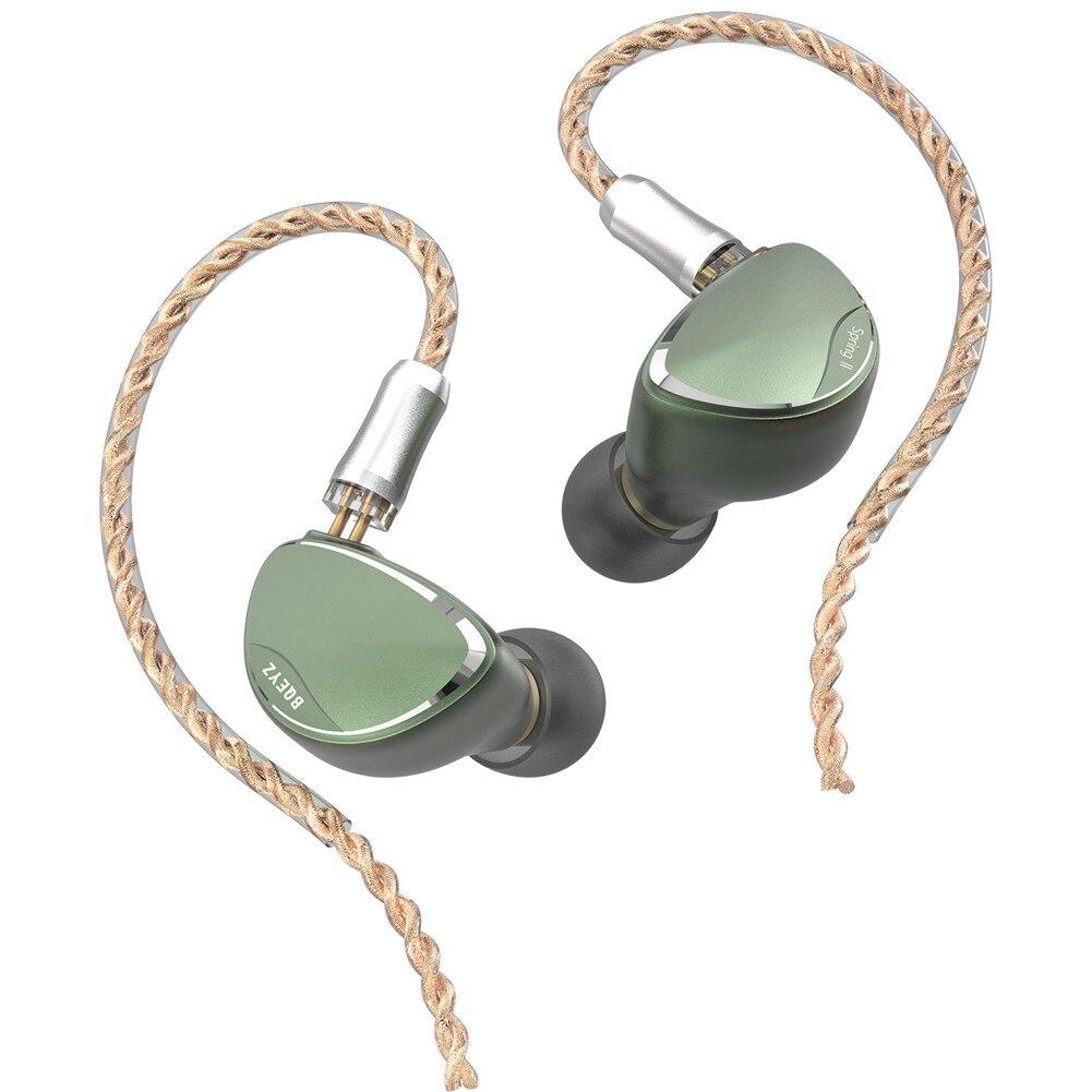 Auriculares piezoeléctricos AK BQEYZ Spring 2 Triple Hybrid Driver 1BA + 1DD + 9 Monitor HiFi audiófilo deportivo