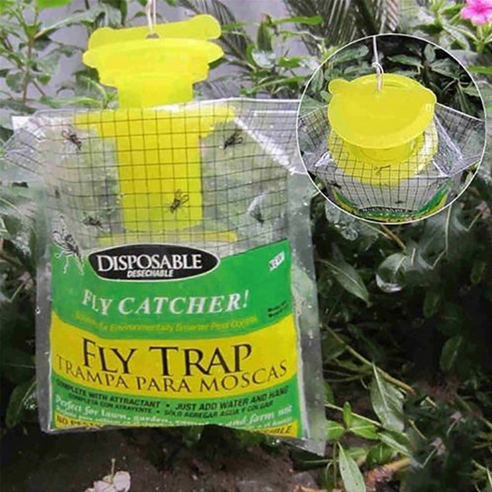 Ловушка для насекомых, многоразовая садовая приманка для уничтожения вредителей, ловушка для уничтожения летающих насекомых, подвесной ло...