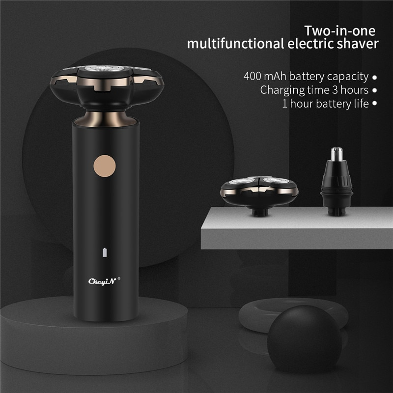 USB Rechargeable Electric Shaver For Men 4D Triple Floating Heads Blade Razor Shaver Beard Trimmer Face Shaving Machine enlarge