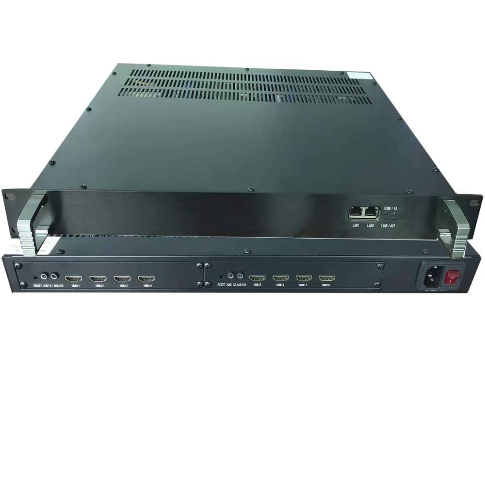 8-channel yüksek çözünürlüklü kodlayıcı HDMI IP H265 / 264 formatı uyumlu, canlı yayın kodlayıcı otel ağ TV ön uç sys