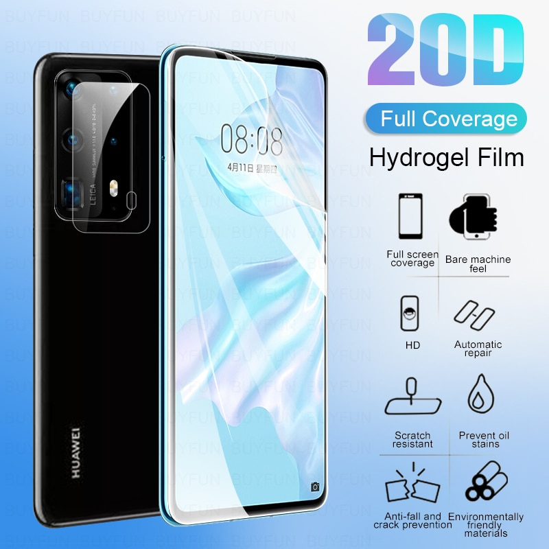 2in1 הידרוג ל מגן זכוכית עבור Huawei p40 לייט פרו 2020 מצלמה עדשת מסך מגן סרט עבור Huawei p 40 לייט אור 40 לייט