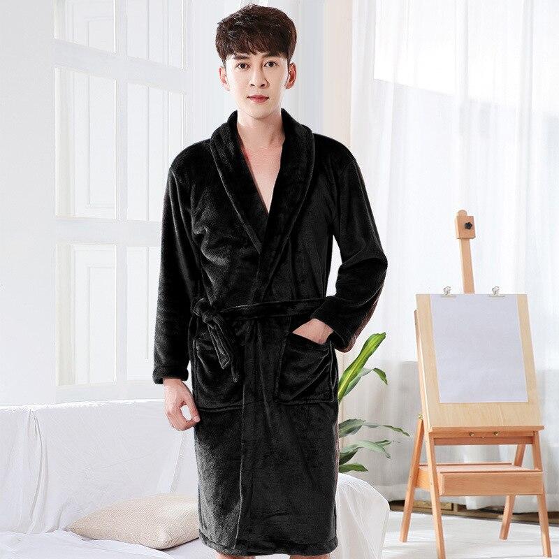 Влюбленные платье для мужчин и женщин теплый супер мягкий фланель коралловый флис длинный банный халат мужские кимоно халат мужской халат халат халаты