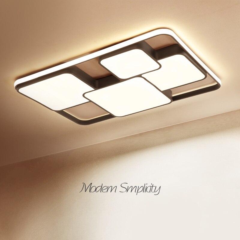 أسود/أبيض الحديثة led الثريا لغرفة المعيشة غرفة نوم luces led الديكور المنزل Dec AC110-220V Led الثريا تركيبات إضاءة