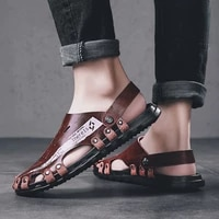 simplicity hollow out designer mens sandals men light shoes casual for mnew 2021 outdoor breathable flat wear resistant