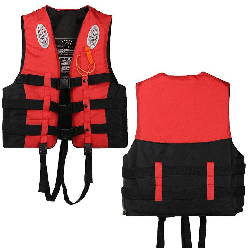 العالمي في الهواء الطلق السباحة القوارب تزلج الانجراف سترة بقاء دعوى البوليستر سترة نجاة للأطفال الكبار مع صافرة S-XXXL