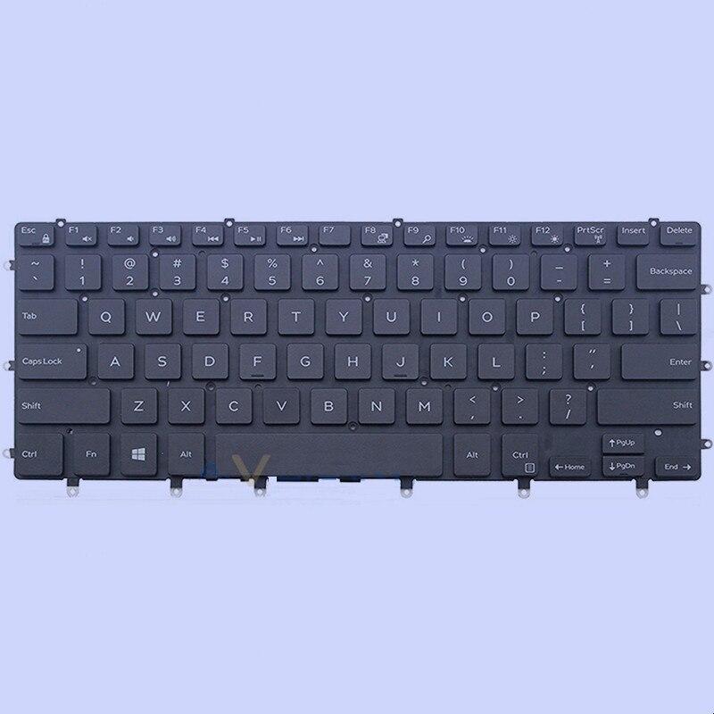 جديد الأصلي الولايات المتحدة لوحة مفاتيح Dell الدقة 5510 XPS 15 9550 9560 9570 P56F001 مع الخلفية