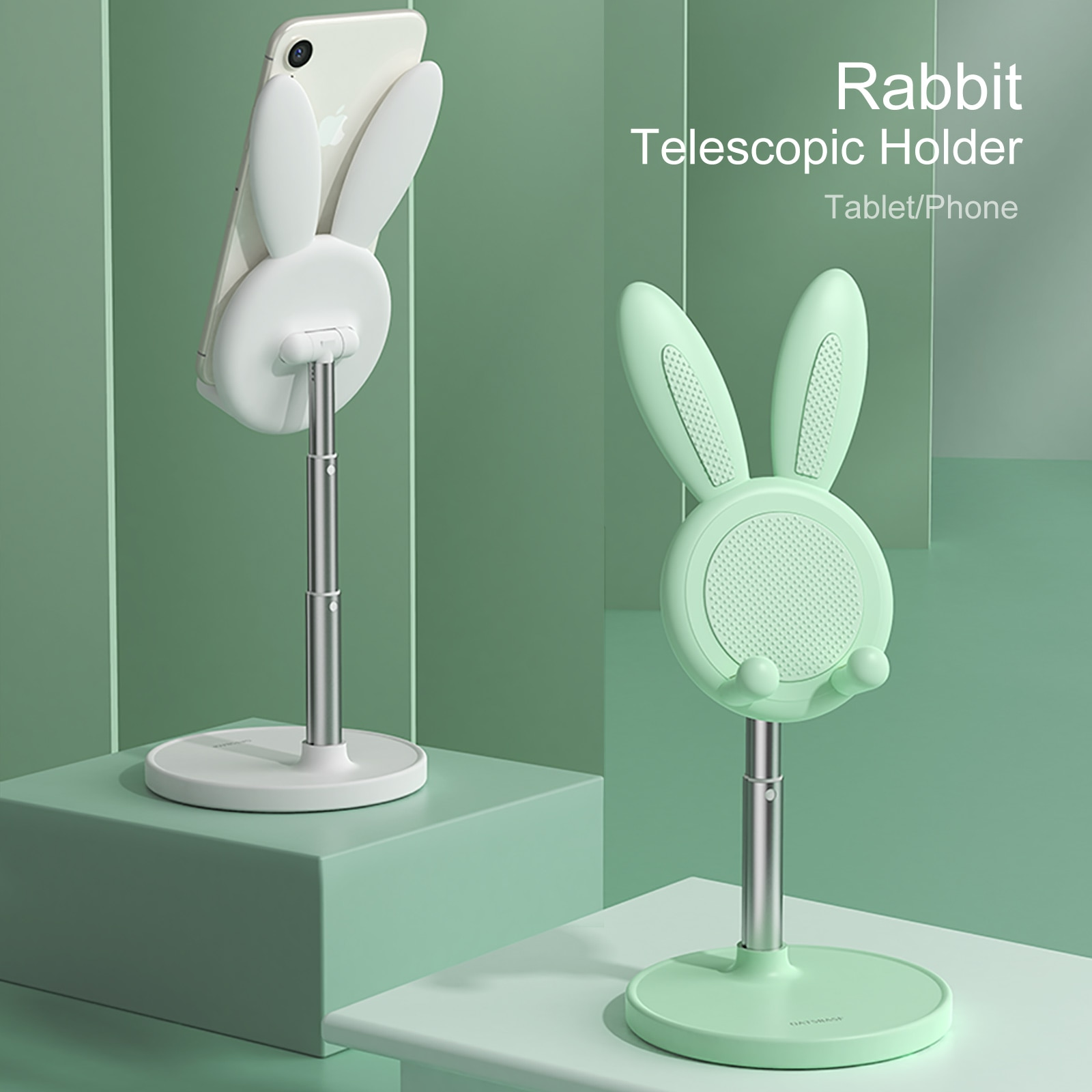 Cute Bunny Rabbit Desktop Phone Stand Portable Universal Adjustable Desk Tablet Holder For IPhone Hu