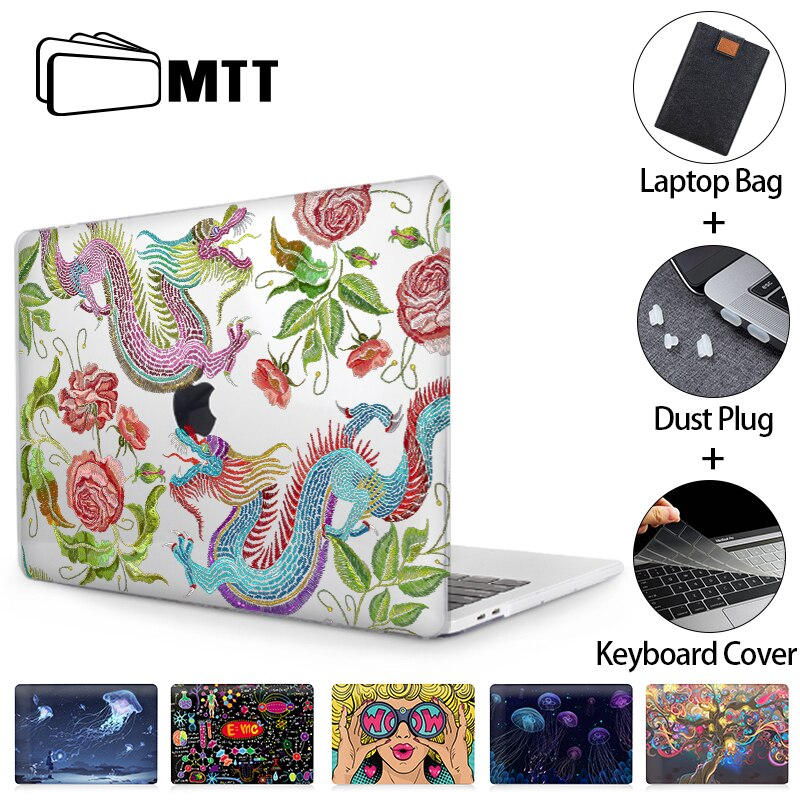 MTT Laptop Case For Macbook Air 13 inch a1466 a2179 a1932 Cover for Macbook Air Pro 11 12 13 15 16 Touch Bar Laptop Sleeve a2289 forest case for macbook air 13 a1466 a1369 marble glitter clear laptop cover for macbook air 13 inch a1932 a2179 2018 2020 cases