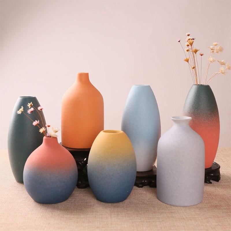 Chinês Vaso de Cerâmica Vaso de Flor Vaso de Decoração Para Casa Tradicional Habilidade Hidropônico Casa Decoração Presente de Casamento de Gradiente
