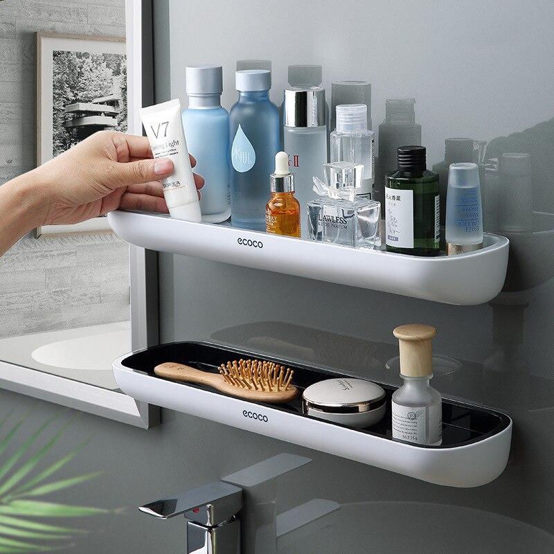 Punch-Free Bathroom Organizer Shelf Shampoo Shower Storage Rack Bath kitchen Towel Holder Household Items Bathroom Accessories