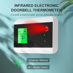 Mini Fixed Forehead Temperature Gun Wall Mounted Temperature Gun Intelligent Voice Broadcast Bluetooth Infrared Thermometer