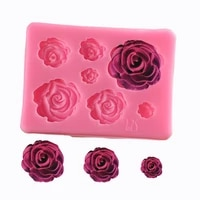 cake decoration large medium and small 7 with 3d rose flower silicone mold diy handmade soap chocolate fondant baking tools