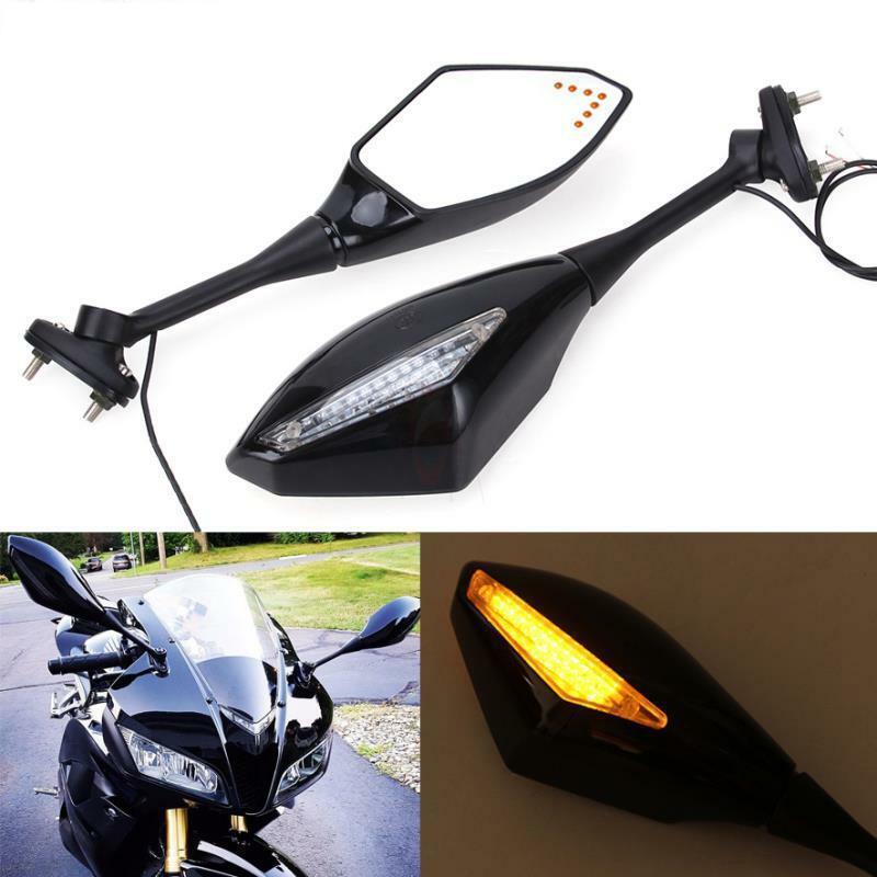Espejos de luz LED integrados de señal de giro para motocicleta Honda CBR600RR 2003-2017 CBR1000RR accesorios de lámpara