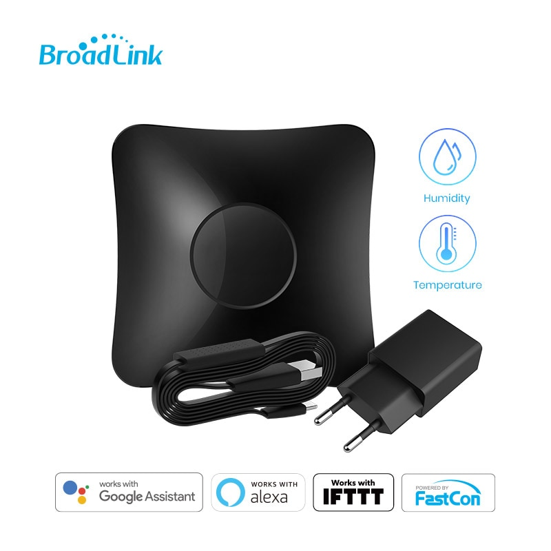 BroadLink RM4 Pro Wi-Fi Smart Universal Remote Hub with HTS2 Temp and Humidity Sensor Smart Home Set