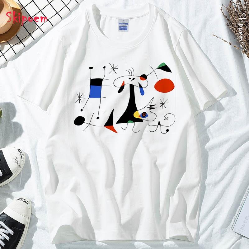 Azul pintor dançarino camiseta feminino punk vintage estético kawaii estilo coreano tumblr algodão plus size skipoem t-shirt superior roupas