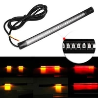 flexible motorcycle license plate led light tail brake stop turn signal lamp car accessories