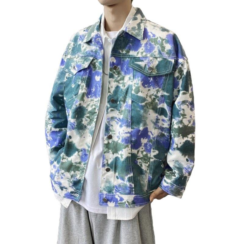 Осенне-весенние мужские повседневные куртки Camos с принтом в стиле хип-хоп, мужские джинсовые пальто для отдыха, модная уличная одежда