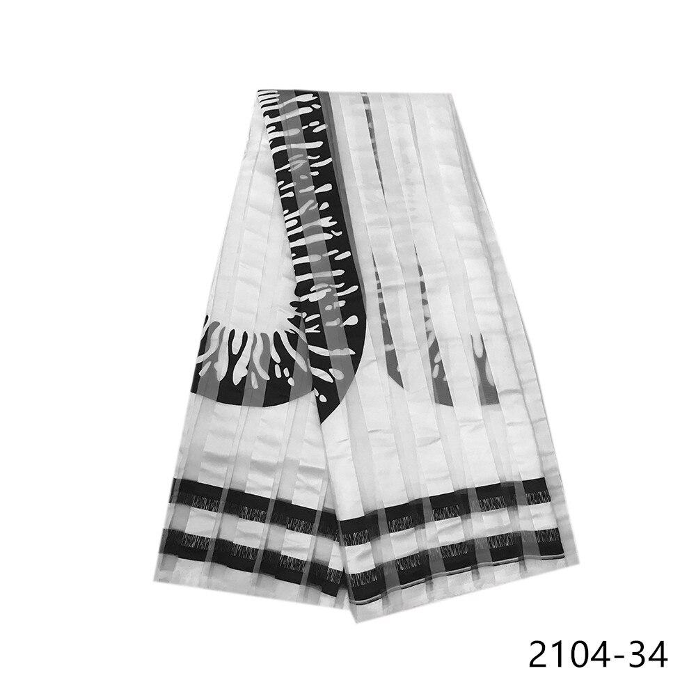 2020 Latest 5 yards Ribbon fabric soft african fabric for dress ankara fabric african wax prints fabric niger Free shipping 2104