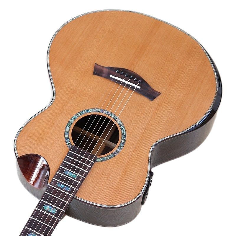 High Quality Full Shell Binding Acoustic Electric Guitar Red Cedar Solid Wood Top Rosewood Back&side 40 Inch Folk Guitar with EQ enlarge