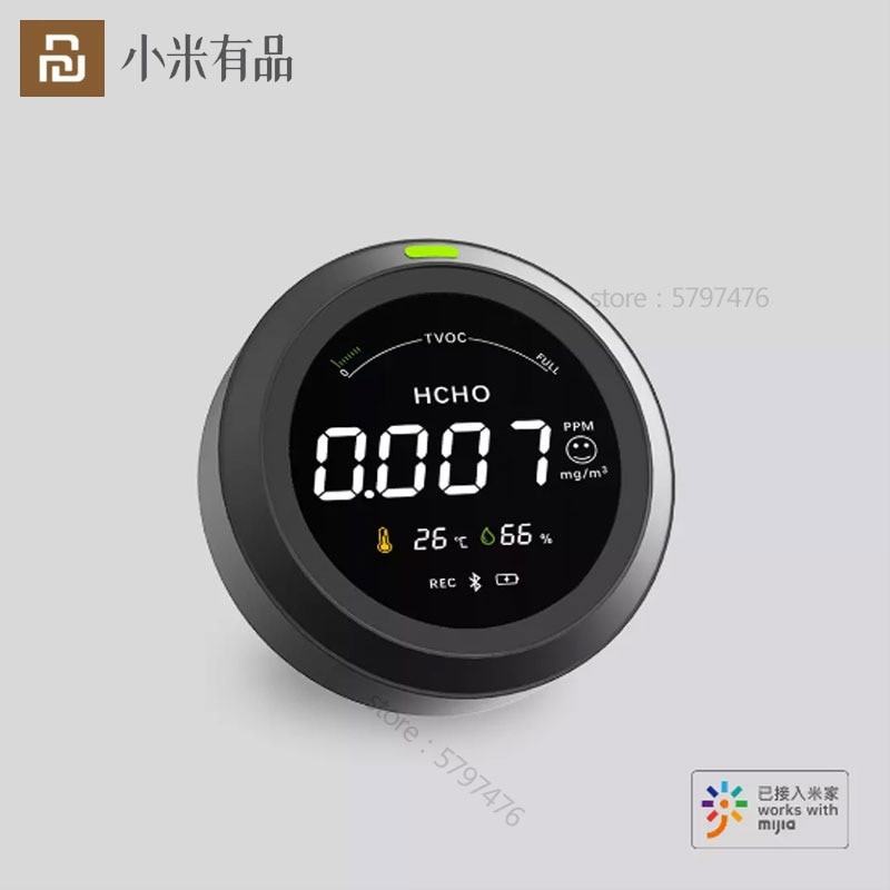 Youpin-مراقب الفورمالديهايد الذكي ، بلوتوث ، 4 في 1 ، عن طريق VOC ، قياس درجة الحرارة والرطوبة ، رابط تطبيق Mijia للمنزل الذكي ، 2020