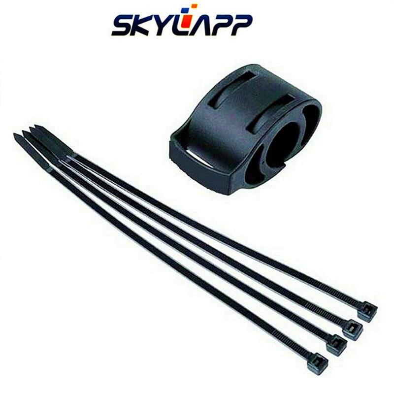 Preto relógio de bicicleta suporte para garmin forerunner 50 bicicleta gps navigator guiador base gravata cinta cinto fixo