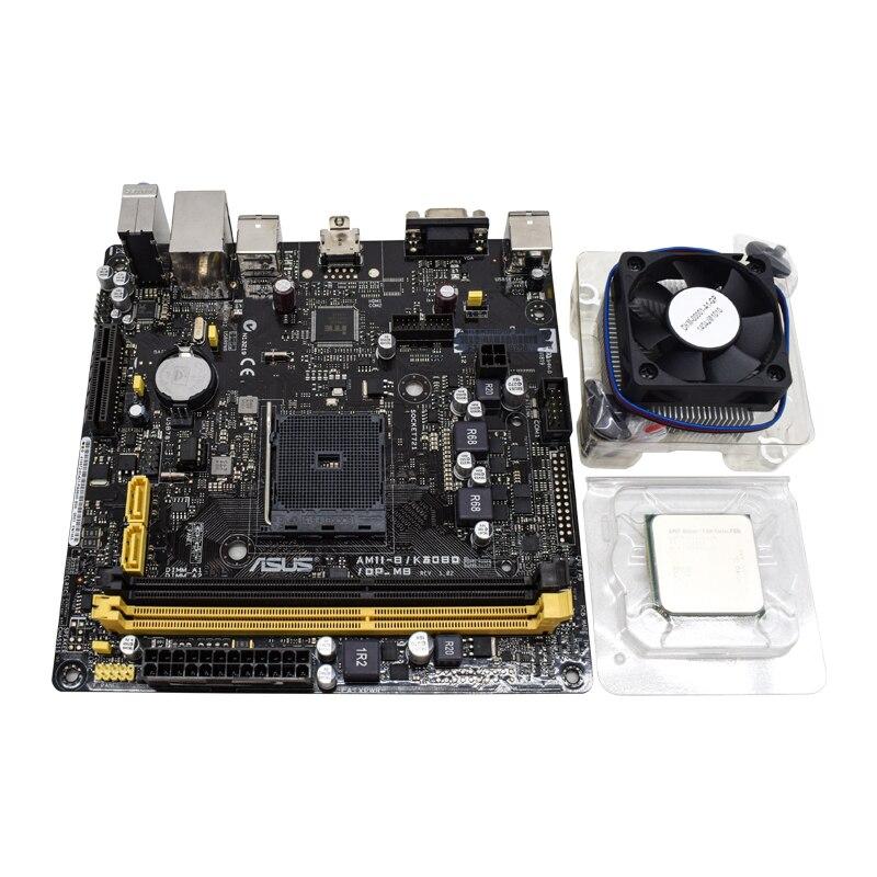 ASUS AM1I-B/K30BD/DP_MB For mini itx 17*17cm AM1 ITX Used Desktop Motherboard AMD A320 DDR3 AMD x4 5150 mini pc motherboard set