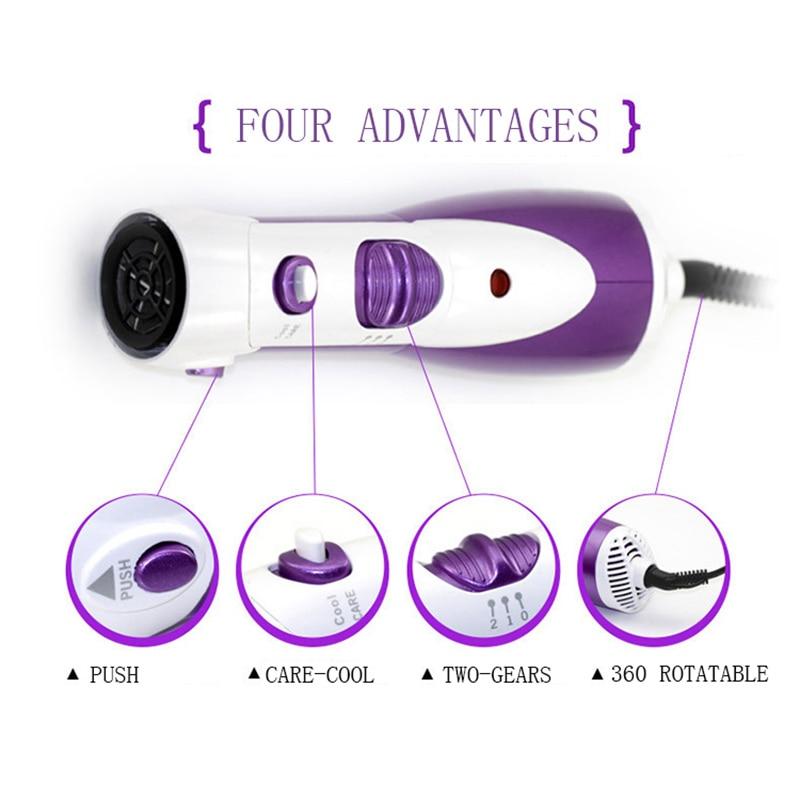 Kemei 7 In 1 Electric Hair Comb Rotating Blow Hair Dryer Brush Hair Curler Wand Rollers Straightener Salon Hair Styler Tools enlarge