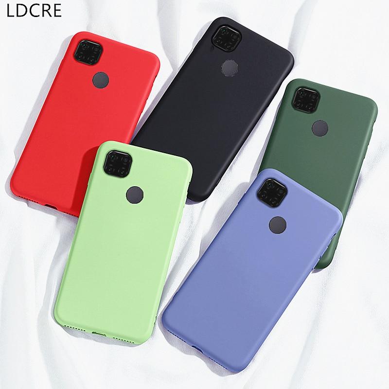 Para xiaomi redmi 9c 9c 9a 9 caso caso de silicone líquido capa protetora macia caso funda para redmi 9c