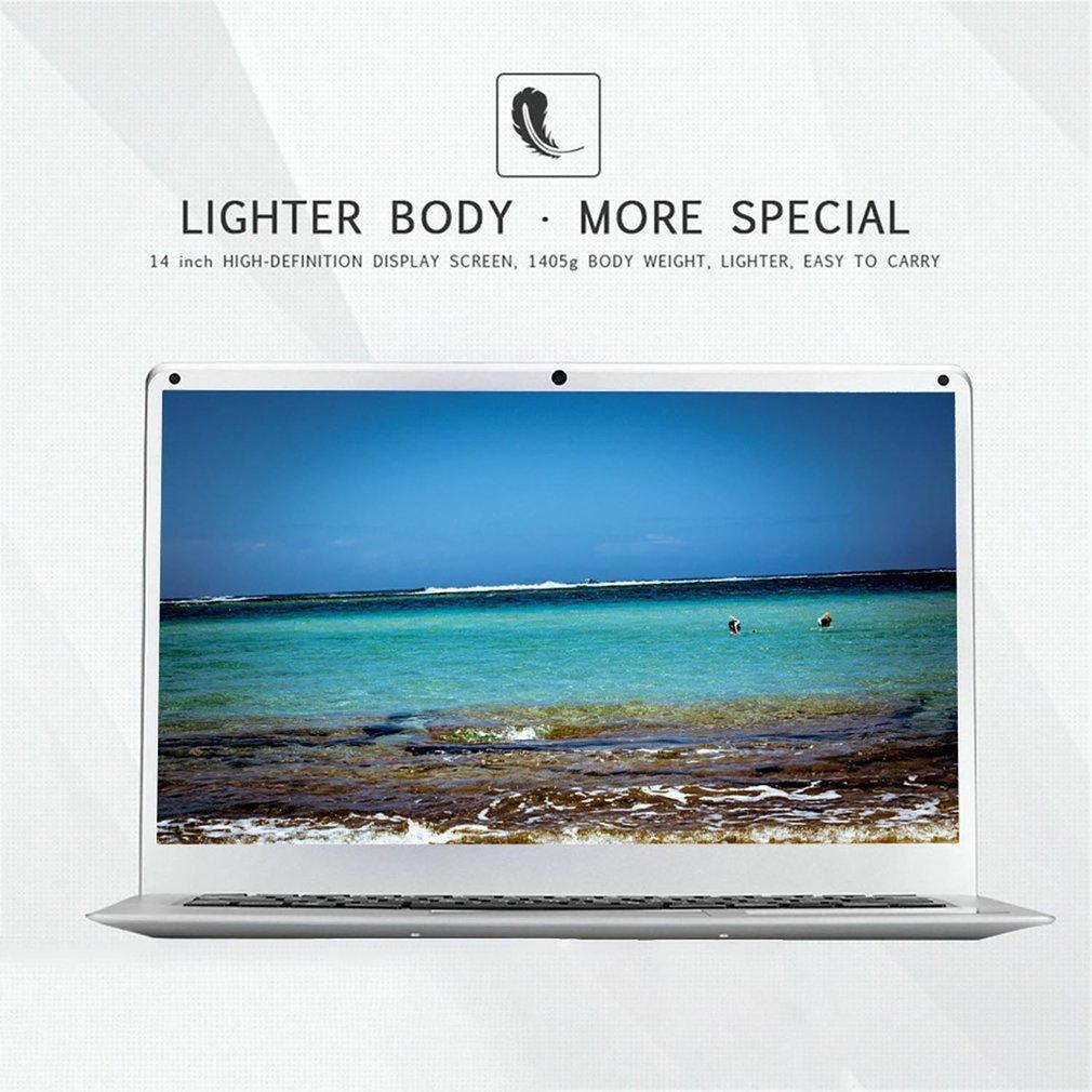 14 Inch Cheap Laptop Notebook Windows 10 Pc Computer 16:9 Ultra-Thin Small Portable Computer 1.3MP Camera 10000mah Battery